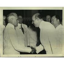 1940 Press Photo Eduardo Surez of Mexico & Cuba's President Laredo Bru