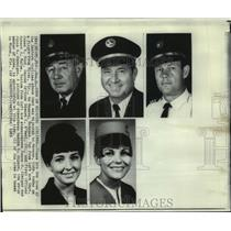 1969 Press Photo Eastern Airlines Hijacking - Crew of Plane Hijacked from Miami