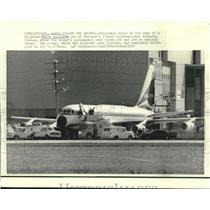 1972 Press Photo Hijacked Delta Airliner makes it back to O'Hare. - nob01002