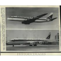 1967 Press Photo Views showing the type of Delta DC8 that crashed in New Orleans