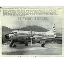 1970 Press Photo Hijacked Algerian Airliner at Airport in Dubrovnik, Yugoslavia