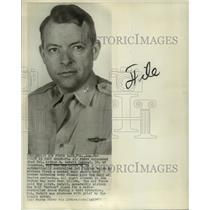 1952 Press Photo Colonel Arthur R. DeBolt, of Columbus, Ohio, Air Force Pilot