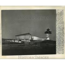 1962 Press Photo Night Viww of Dulles International Airport, Chantilly, Virginia