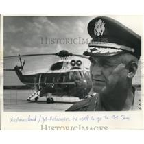 Press Photo Captain Westmoreland Jet and Helicopter Pilot - sba26588
