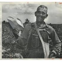 1966 Press Photo Isaac McGhee, Creek Indian Farmer near Atmore, Alabama