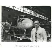 1991 Press Photo Bruce Addington, Beech Aircraft Corp., Selma, Alabama