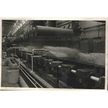 1986 Press Photo Water sprayed on rolled steel to cool, Tuscaloosa, Alabama