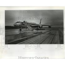 1978 Press Photo Aeromexico Jet with Ladder Down on Runway - not01348