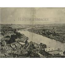 1914 Press Photo Panoramic view of Namur Belgium - nef71817