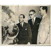 1957 Press Photo Alfredo de Lancellotti, Thomas Silvestrini, Ermanno DiMarzio