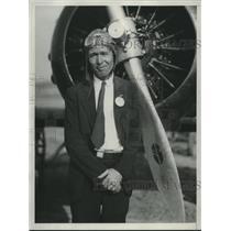 1934 Press Photo Pilot Johnny Worthern - nef70885