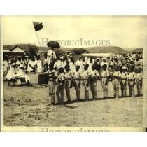 1935 Press Photo Children from the Mohammedan School Showing Their Support