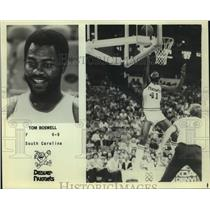 Press Photo Denver Nuggets basketball forward Tom Boswell - sas05232