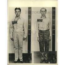 1942 Press Photo Edward John Kerling & George John Dasch, axis saboteur captured