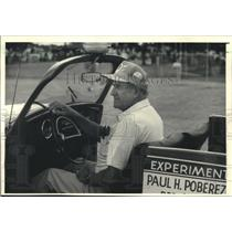 1988 Press Photo Paul Poberezny drives a cut-down VW at EAA Convetion