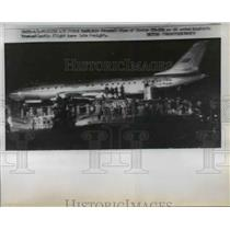 1957 Press Photo Soviet TU-105 plane ends it's historic Transatlantic flight