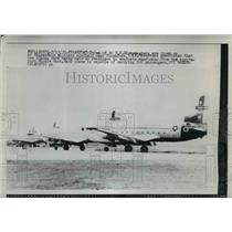 1958 Press Photo Three of the 20 U.S Globemasters at Rhine Main Military Field