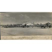 1951 Press Photo Planes on Ramp at Moisant International Airport in New Orleans