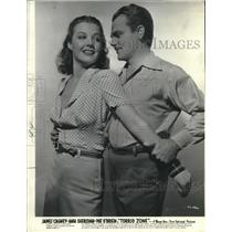 "1940 Press Photo Ann Sheridan and James Cagney in ""Torrid Zone"" - lrz00024"