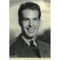 "1934 Press Photo actor Fred MacMurray in ""Hands Across the Table"" - lrz00071"