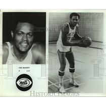 Press Photo New Jersey Nets basketball player Tim Bassett - sas05450