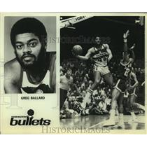 Press Photo Washington Bullets basketball player Greg Ballard - sas05752