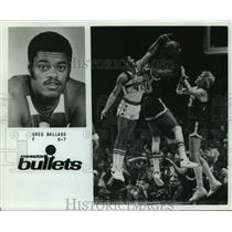 Press Photo Washington Bullets basketball forward Greg Ballard - sas05756