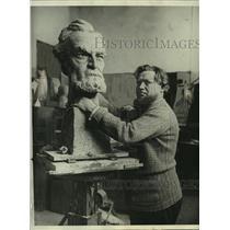 1929 Press Photo A bust of Carl Schurz by artist T.C. Pilartz, Berlin.