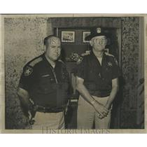 1874 Press Photo Sheriff Richard W. Varnon, and unidentified officer, Alabama
