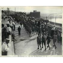 1933 Press Photo PA National Guard March With Full War-Time Equipment