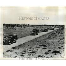 1942 Press Photo Army Trucks roll down Burma Road in Australia - nem51743