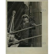 1922 Press Photo Captain of S.S. Ciss Norwegian - nem52531