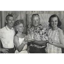 1963 Press Photo Henry Yessick with trophy from Birmingham Aero Club - abna18979