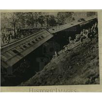 1925 Press Photo View of the wreckage of the Rail Road - nem51514