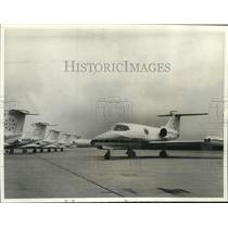 1966 Press Photo Sleek Lear jets zip businessmen anywhere - nob07704