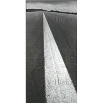 1972 Press Photo Runway stripe at Bessemer, Alabama airport - abna19328