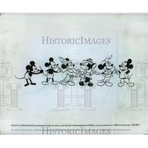 1978 Press Photo Mickey Mouse as drawn from 1928 to 1978. - mjp10302