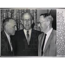 1962 Press Photo William Myers Rail union chief meeting - RRW86021