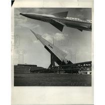 1959 Press Photo Nike Hercules U.S Air Missiles joins Ajax - nem53433