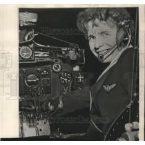 1965 Press Photo Yvonne Pope, soon to become the first woman co-pilot