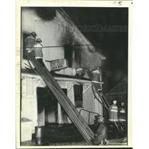 1980 Press Photo Madere's Grocery in Reserve heavily damaged by fire.