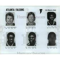 1982 Press Photo Atlanta Falcons - Steve Bartkowski, Other Players - nos01640