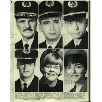 1970 Press Photo Crew of Delta Jet Hijacked to Cuba - not02751