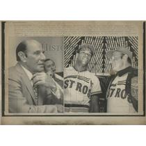 1972 Press Photo Houston Astros Mgr Leo Durocher - RRQ05777