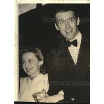 1940 Press Photo James Stewart and Olivia de Havilland - lrz00629