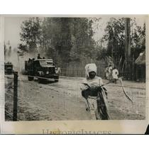 1936 Press Photo Expedition of Italian troops leaving Addis Ababa - nem54492