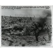 1966 Press Photo XB70 crashed after a mid air collision with a jet plane in