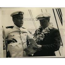 1929 Press Photo Commander M. McComb and Lieutenant N. B. Koger of Grace plane