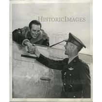 1941 Press Photo Capt.Elliot Roosevelt and Brig. Gen. Hubert R. Harmon
