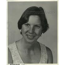 1976 Press Photo United Airlines, Su Schaffer, city manager, Milwaukee